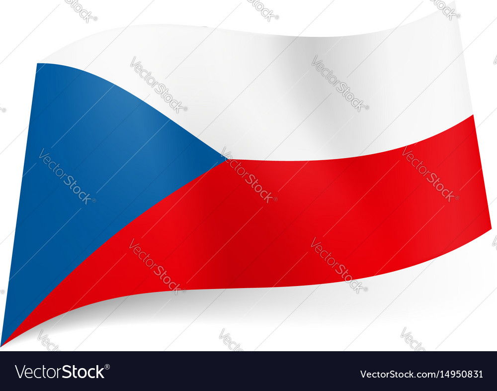 National flag of czech republic white and red