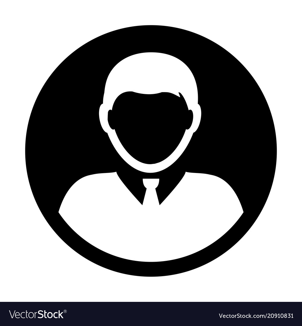 Person Icon Male User Profile Avatar Symbol Vector Image
