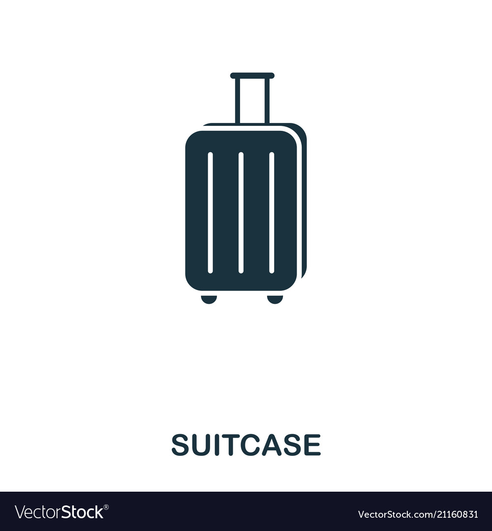 Suitcase icon mobile app printing web site icon