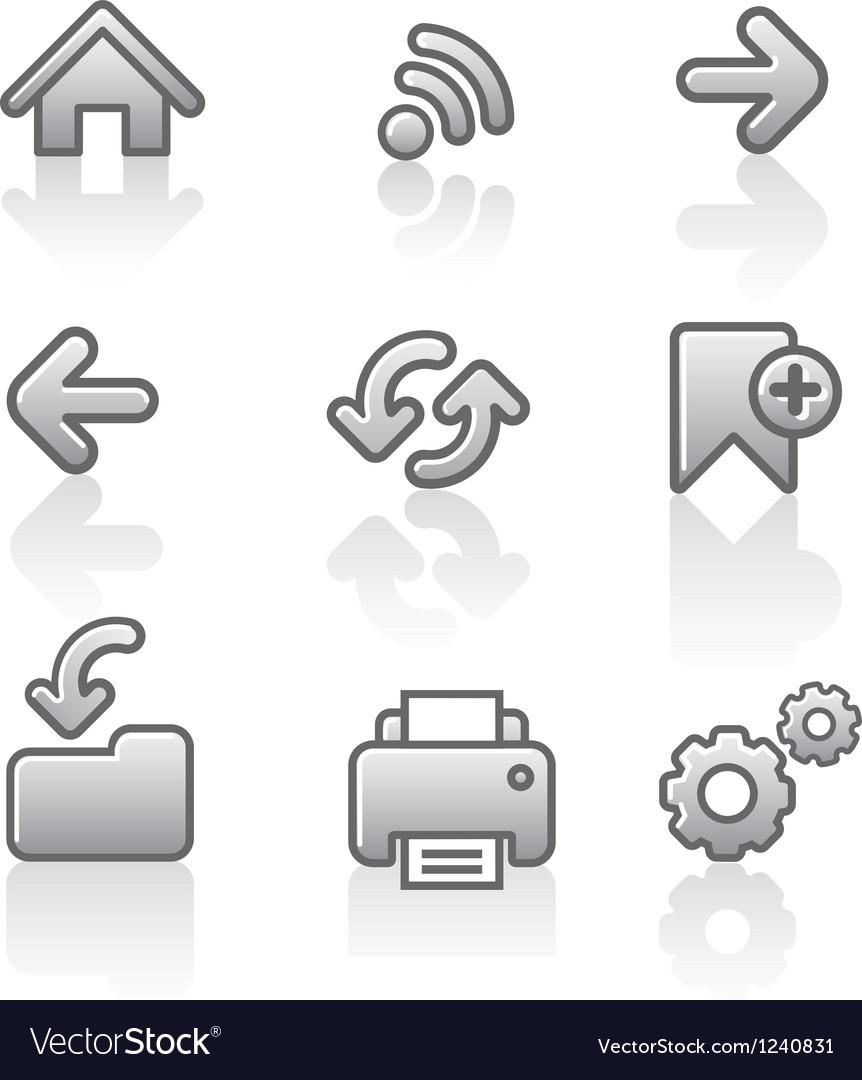Web navigation icon set