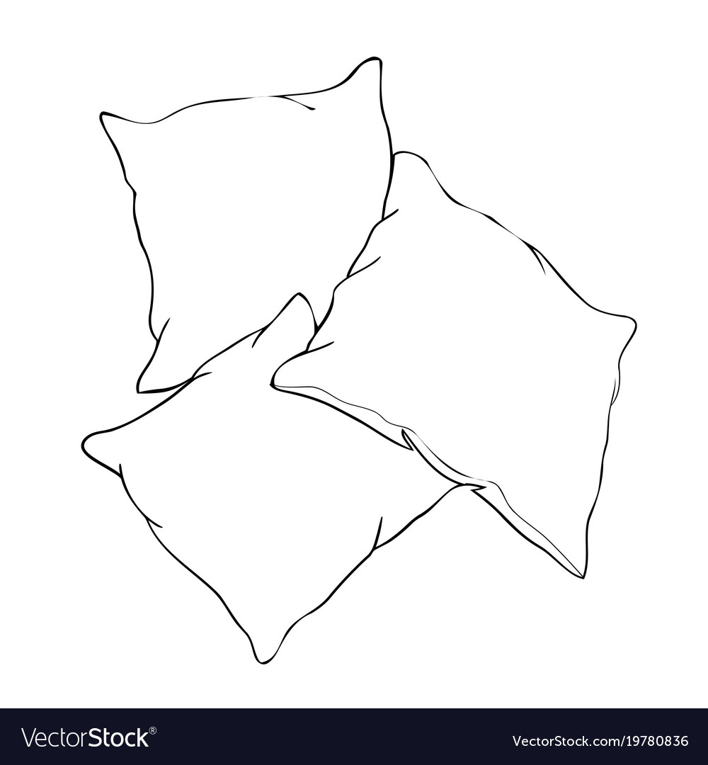 Вышивкой своими, подушки картинки для разукрашивания