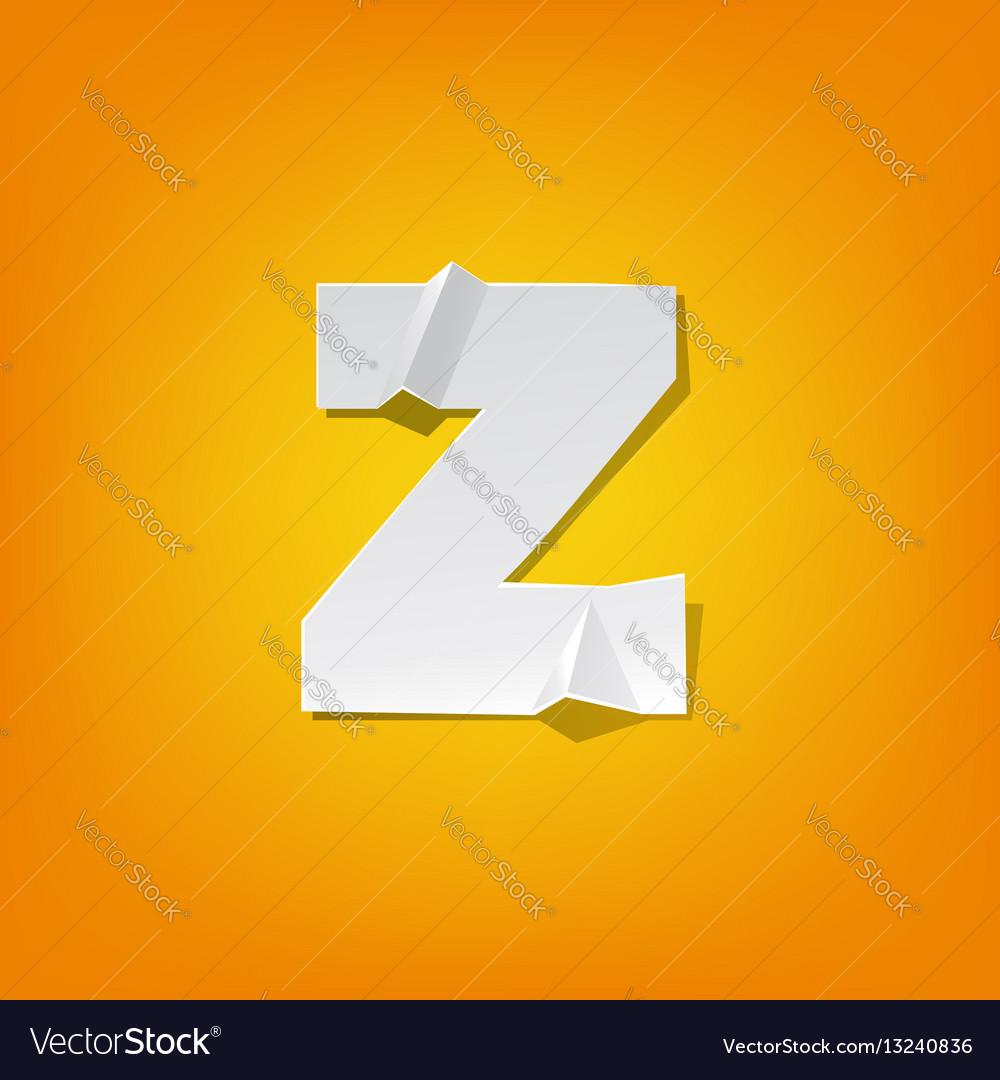 Z lowercase letter fold english alphabet new