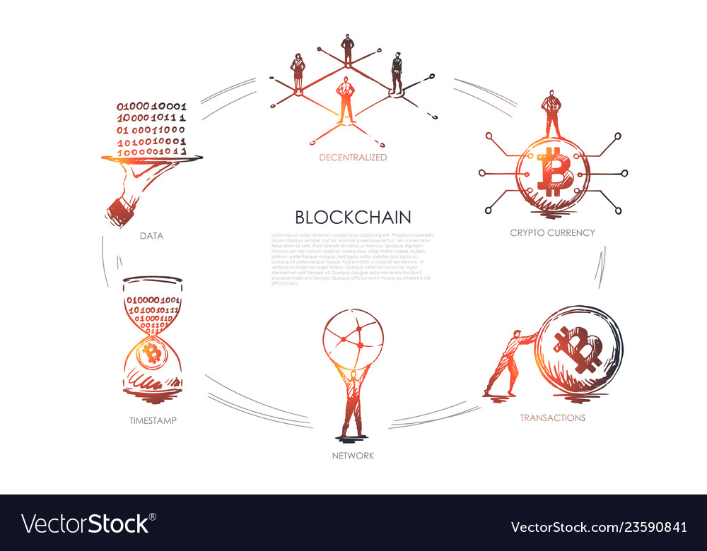 Blockchain decentralized crypto currency
