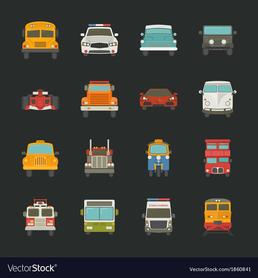 Car icons transport