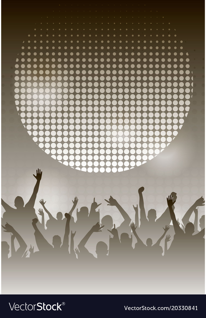 Dance party night poster monochrome background