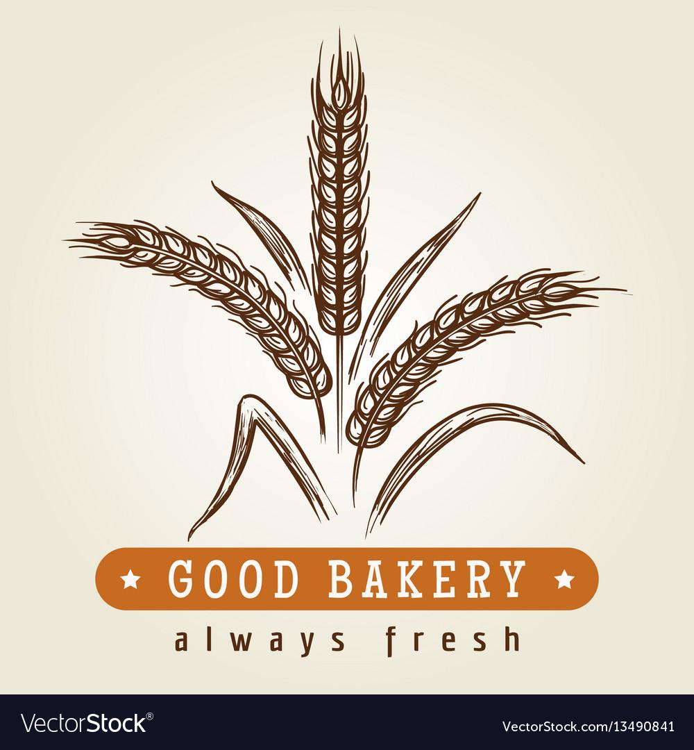 Good bakery logo with wheat ears