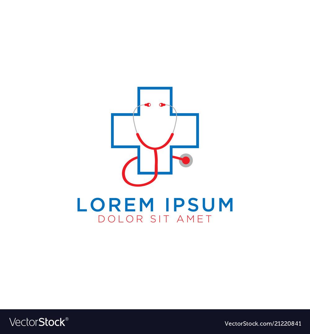 Medical cross logo design template