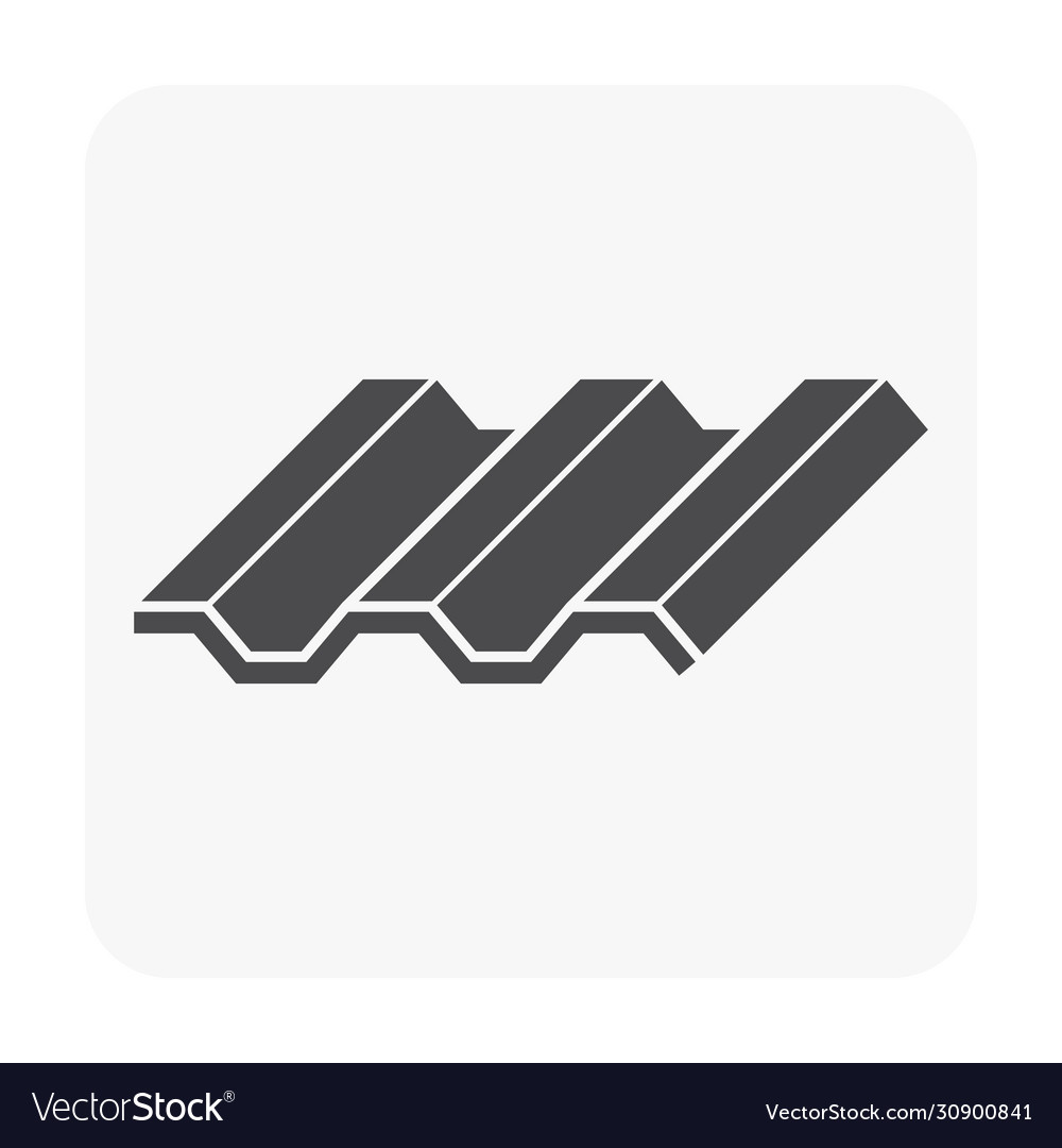 Roofing Material Icon Royalty Free Vector Image