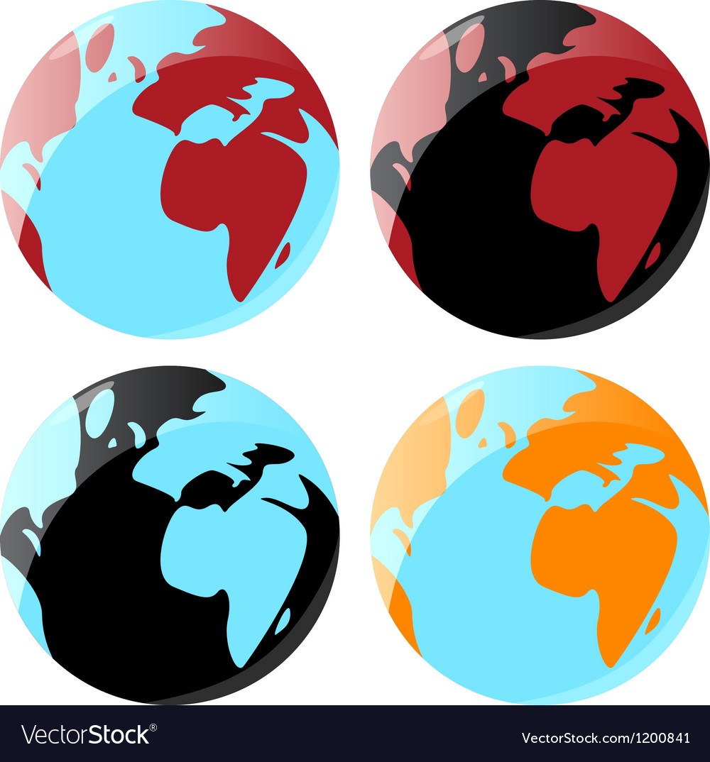 Smooth globe icons