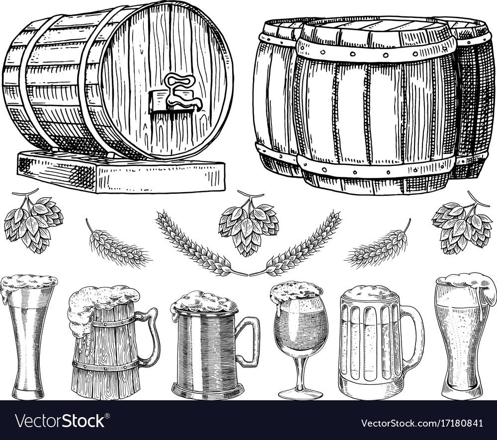 Wine or rum beer classical wooden barrels for