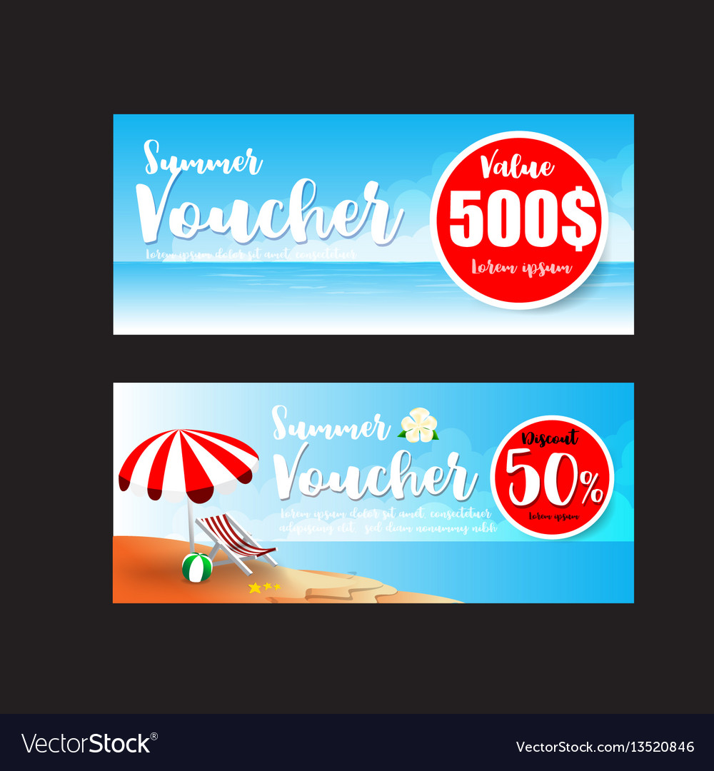 81c93ac99 016 collection of summer sale promotion voucher Vector Image