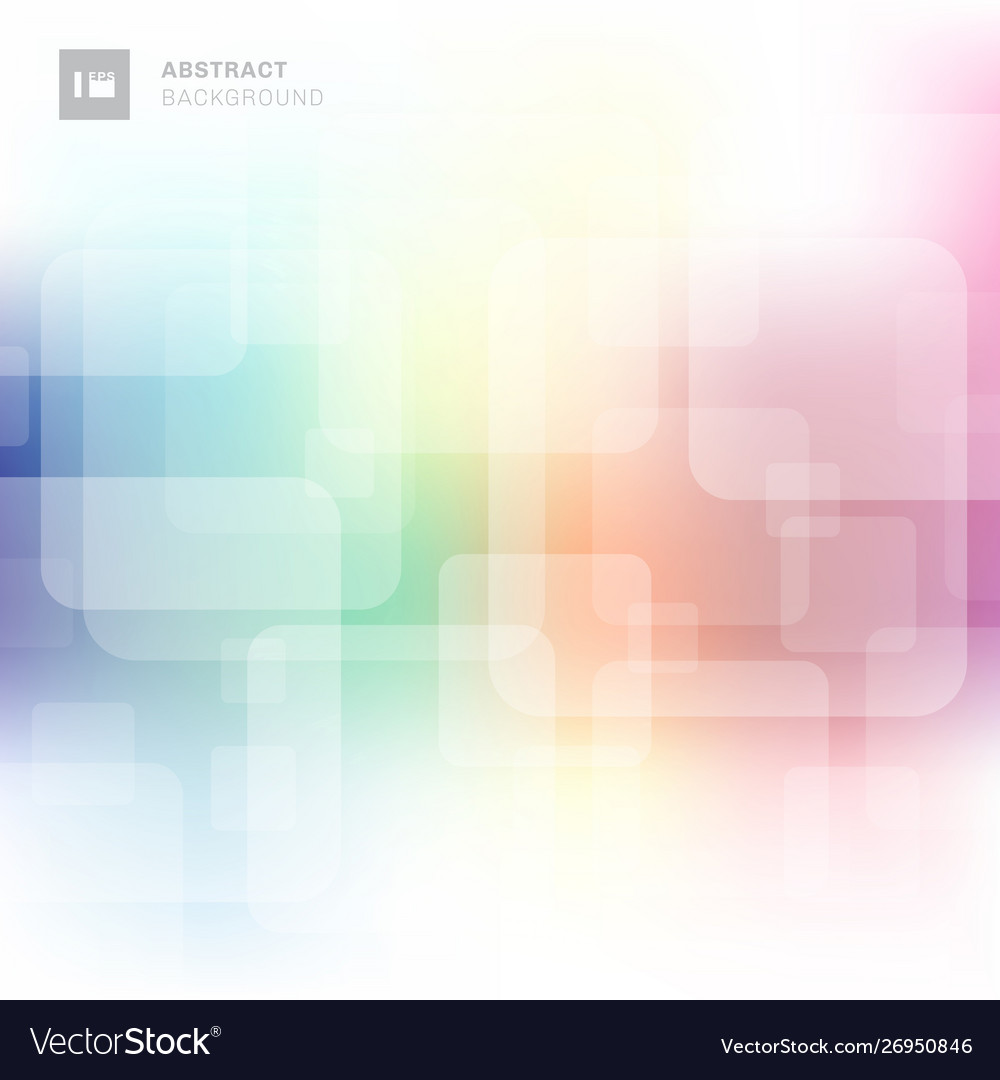 Abstract square transparent overlapping