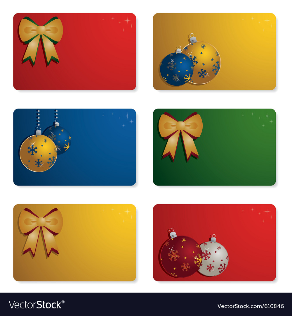 Christmas Gift Cards Royalty Free Vector Image
