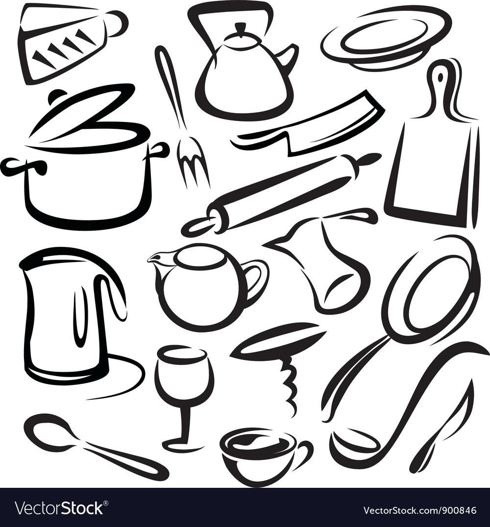 Best Kitchen Illustrations Royalty Free Vector Graphics: Kitchen Equipment Royalty Free Vector Image