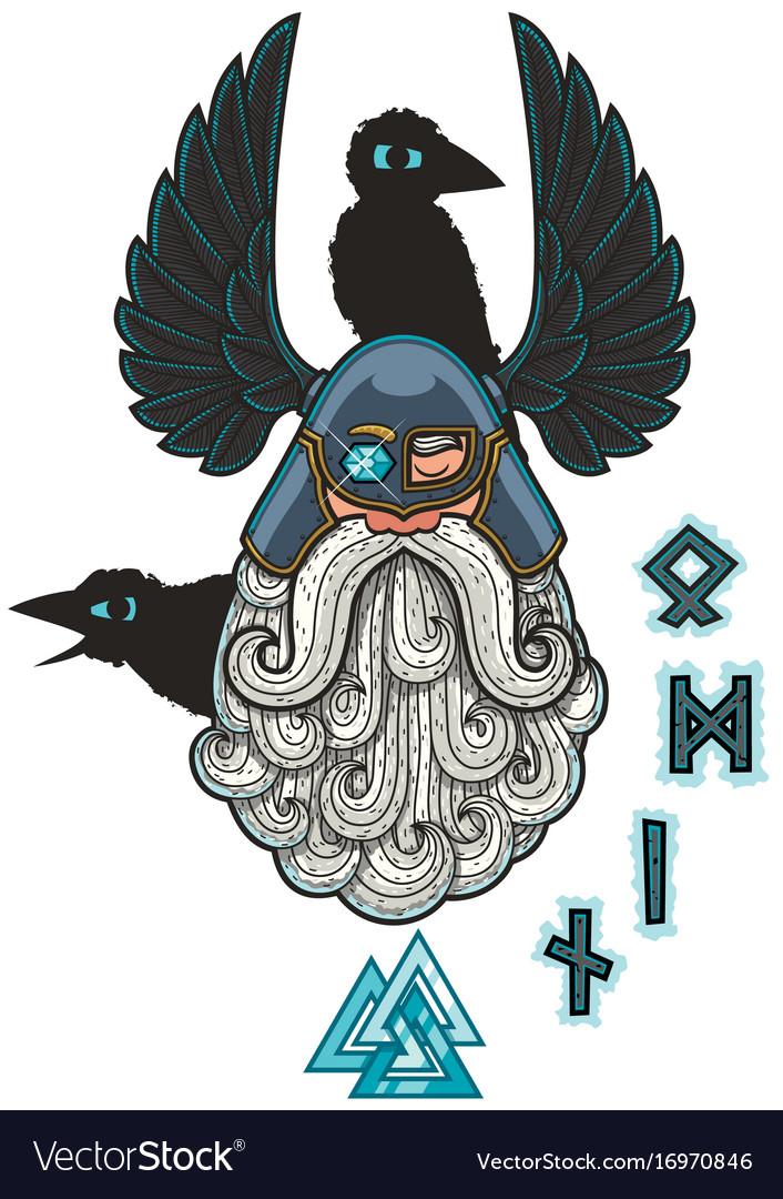 Odin vector image
