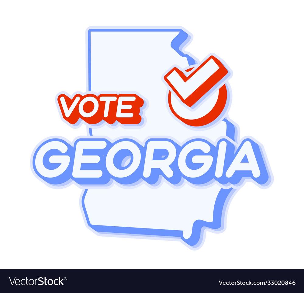 Presidential vote in georgia usa 2020 state map