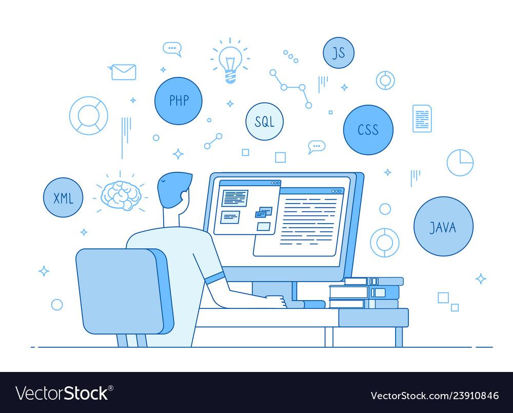 Programmer coding website coder web designer