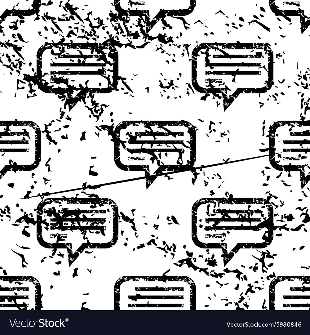 Text message pattern grunge monochrome vector image