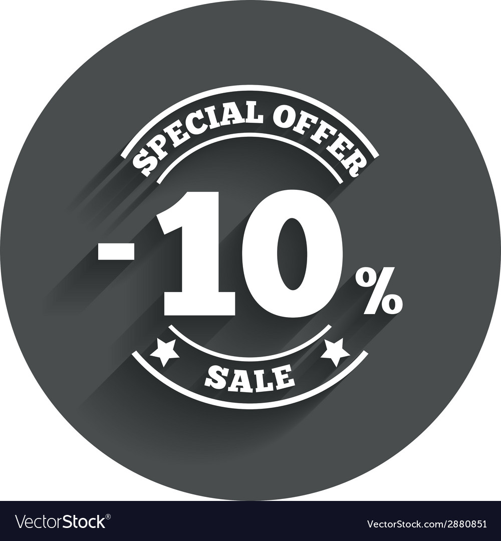 10 percent discount sign icon Sale symbol