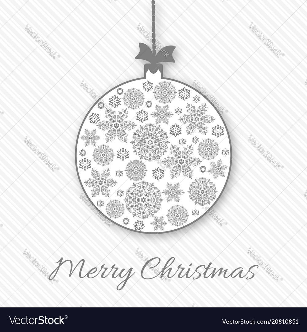 Christmas and new year greeting invitation card vector image