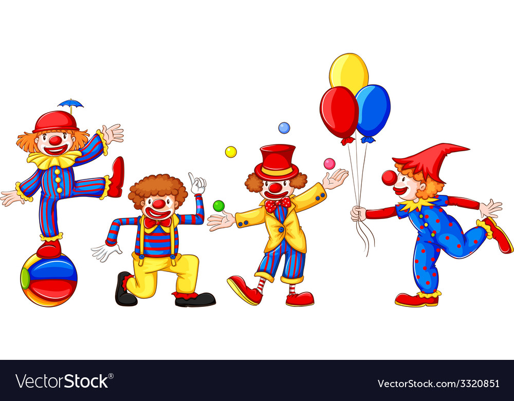 Colourful clowns