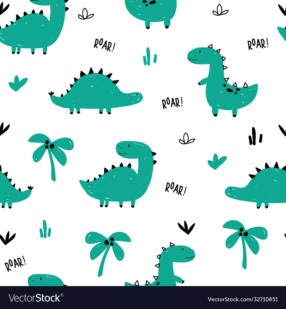 Dinosaurs seamless pattern