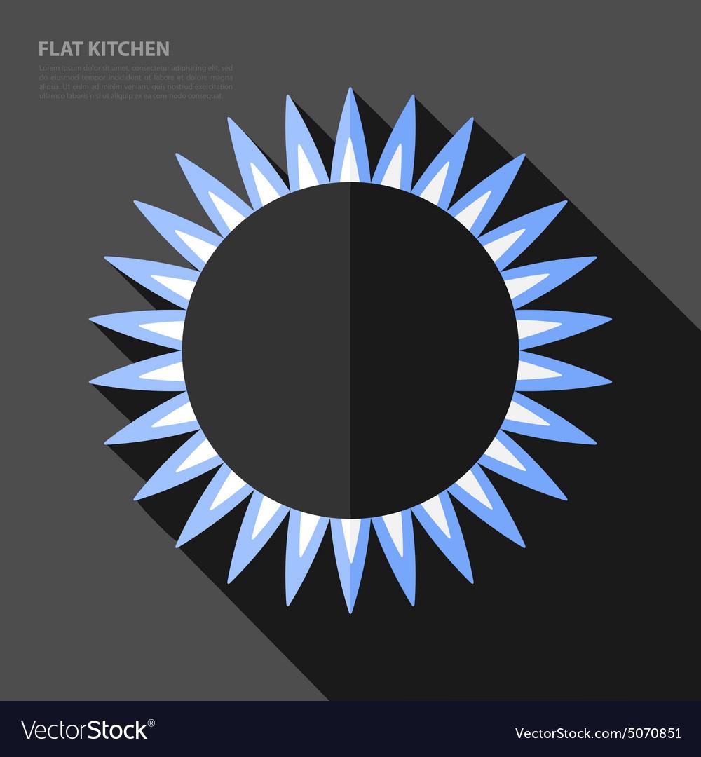 Flat gas burner icon