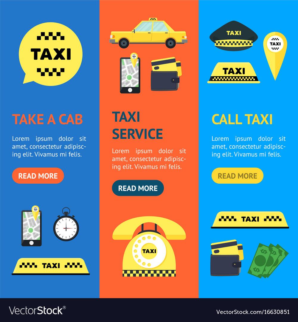 Taxi transportation service set