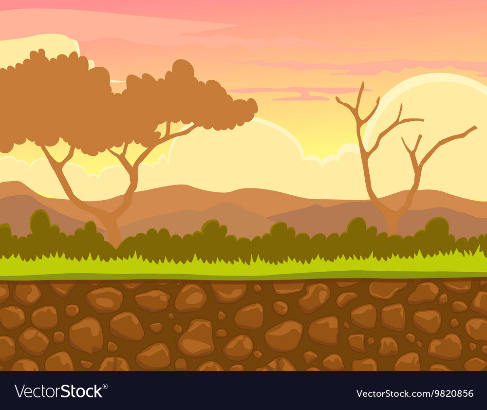 Afternoon view with landscape background