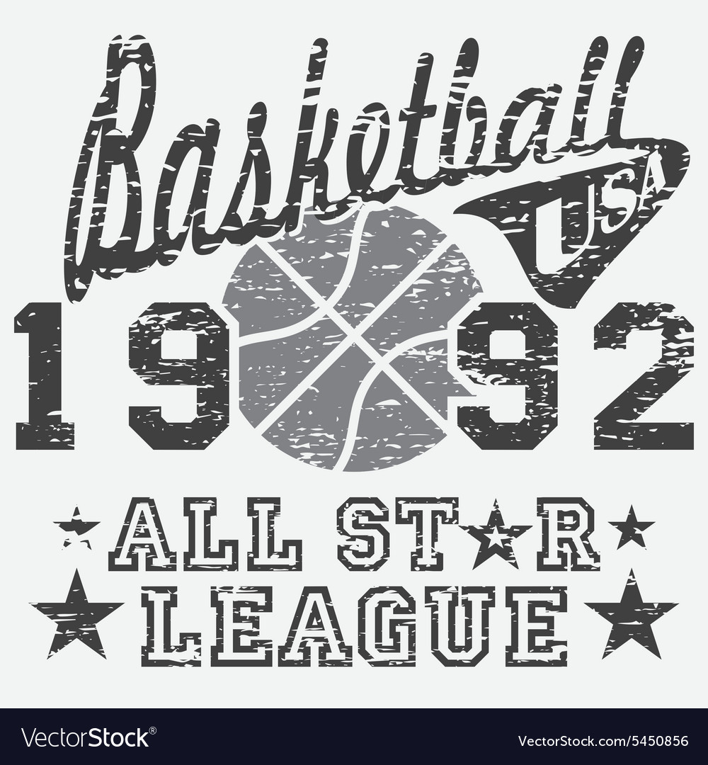 Basketball all star league artwork typography