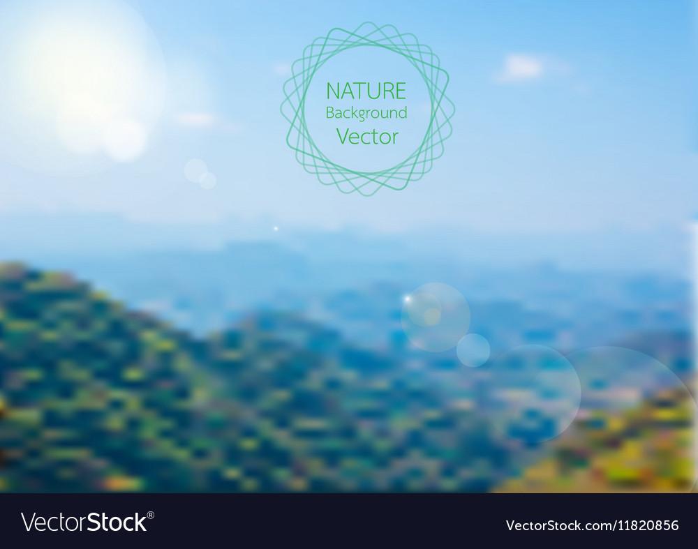 Blurred of Nature background landscape