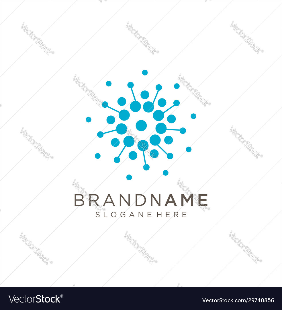 Circle tech logo abstract molecule logo design
