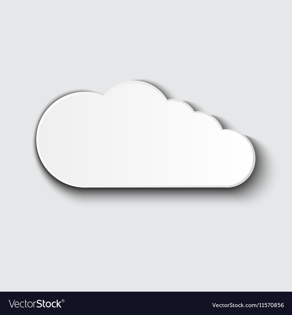 Cloud icon set white color on grey