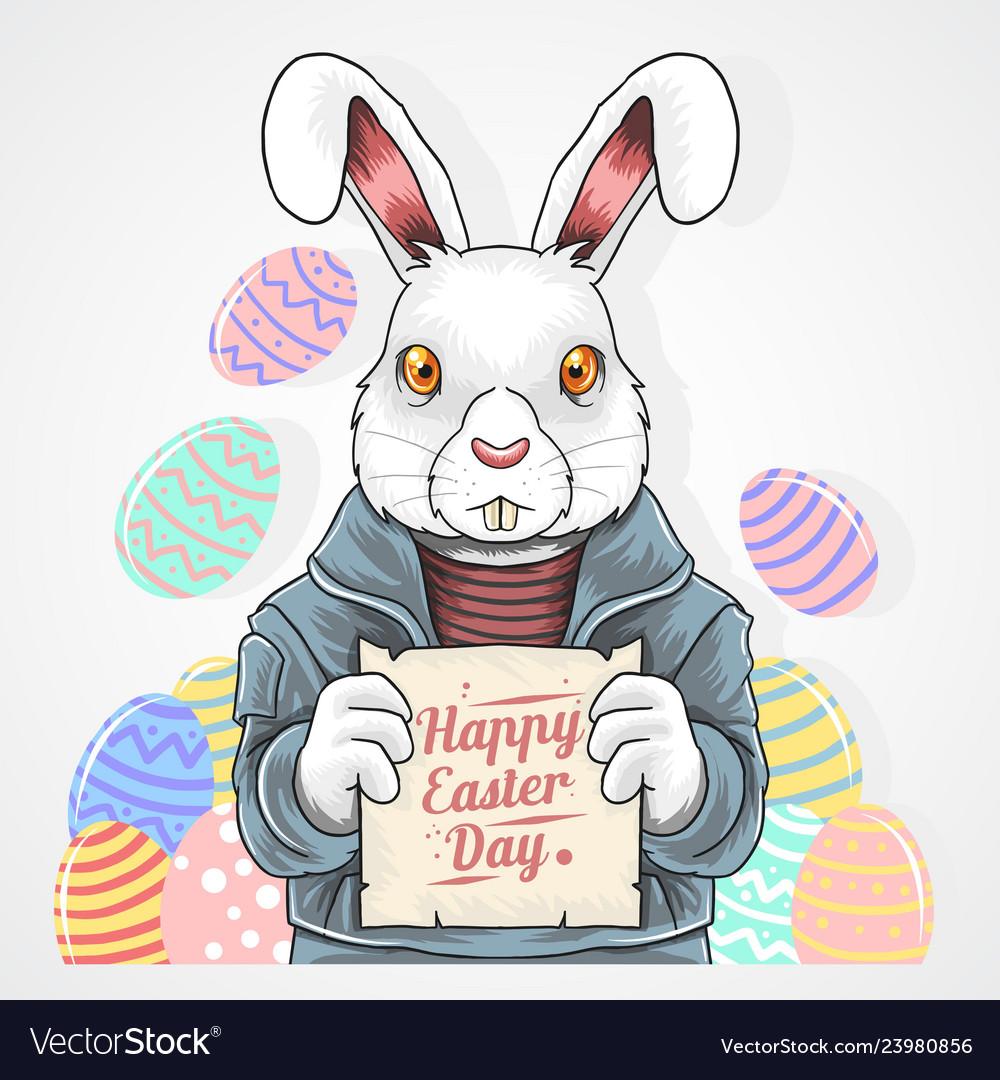 Easter rabbit egg