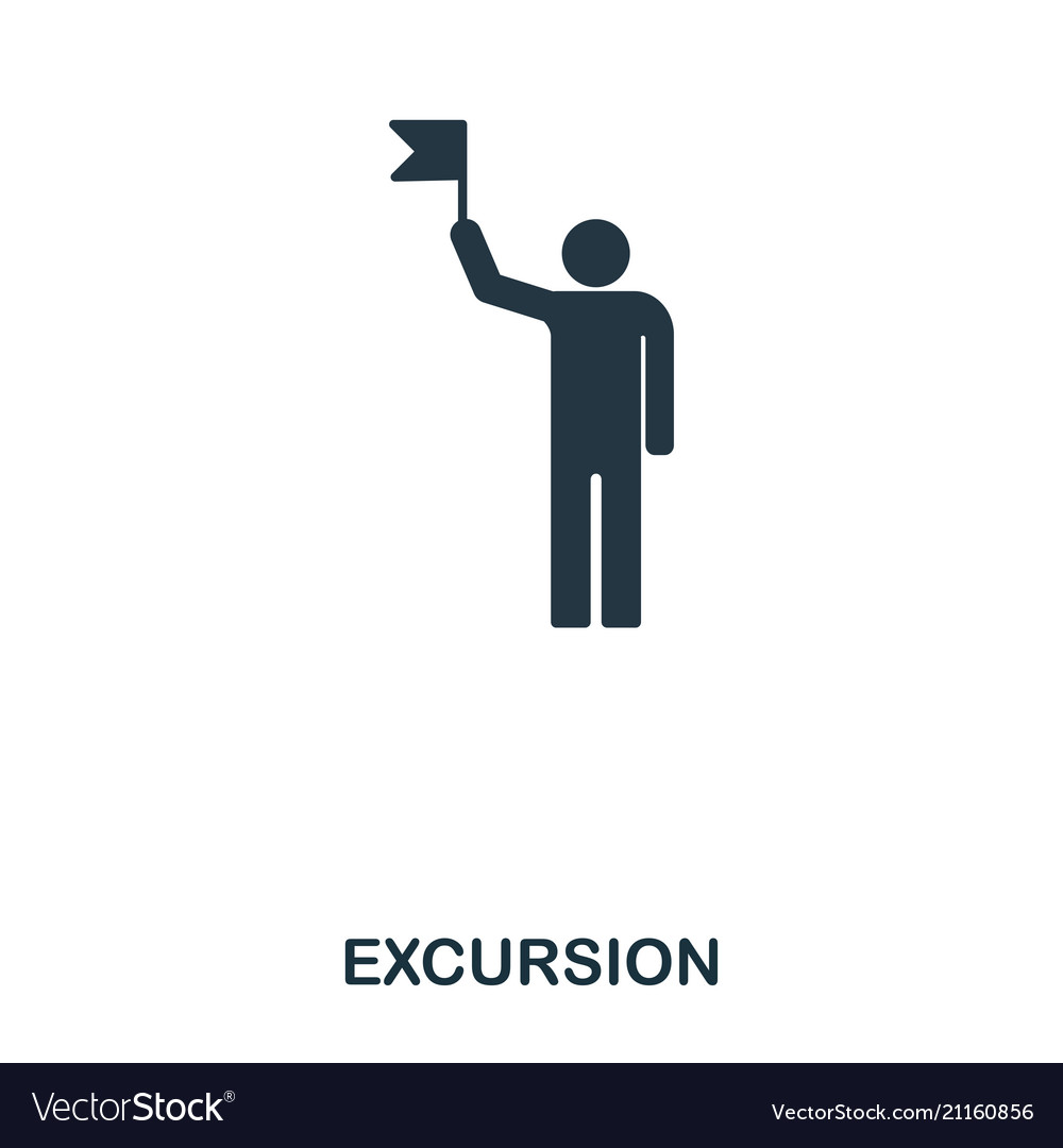 Excursion icon mobile app printing web site
