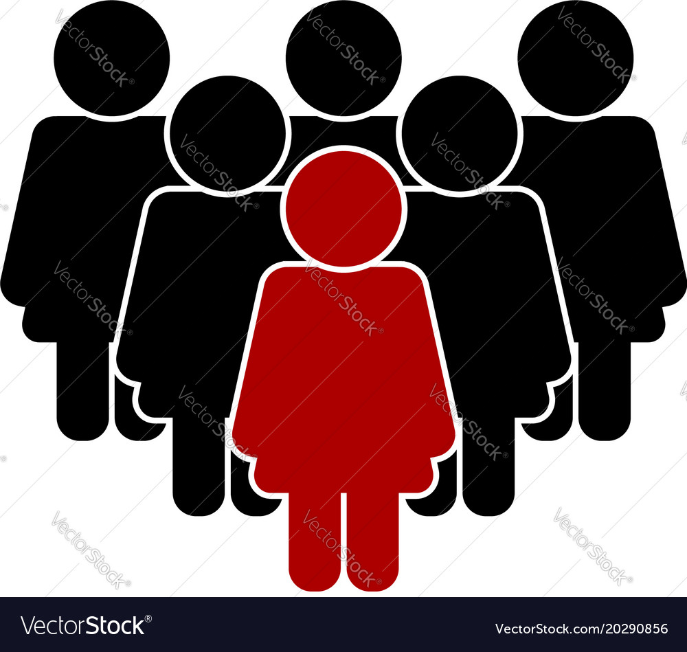 Group of women with leader vector image