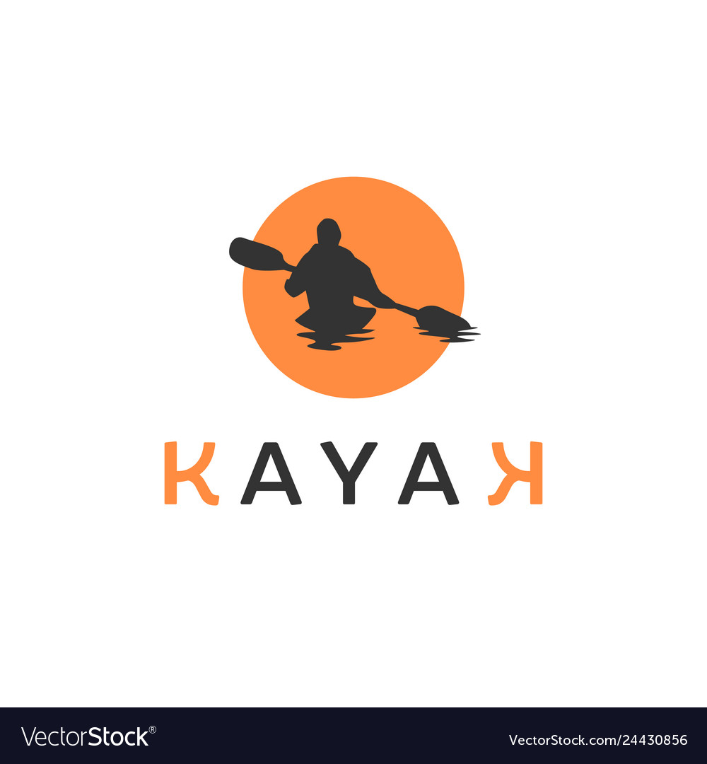 Kayak logo inspirations with sun background