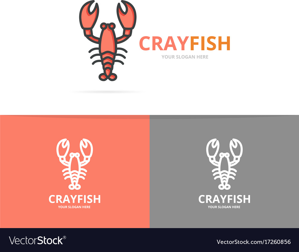 Lobster and cancer logo design template vector image