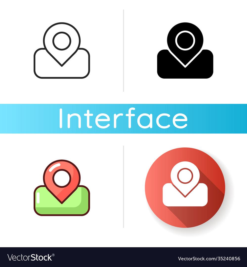 Maps App Icon Royalty Free Vector Image Vectorstock