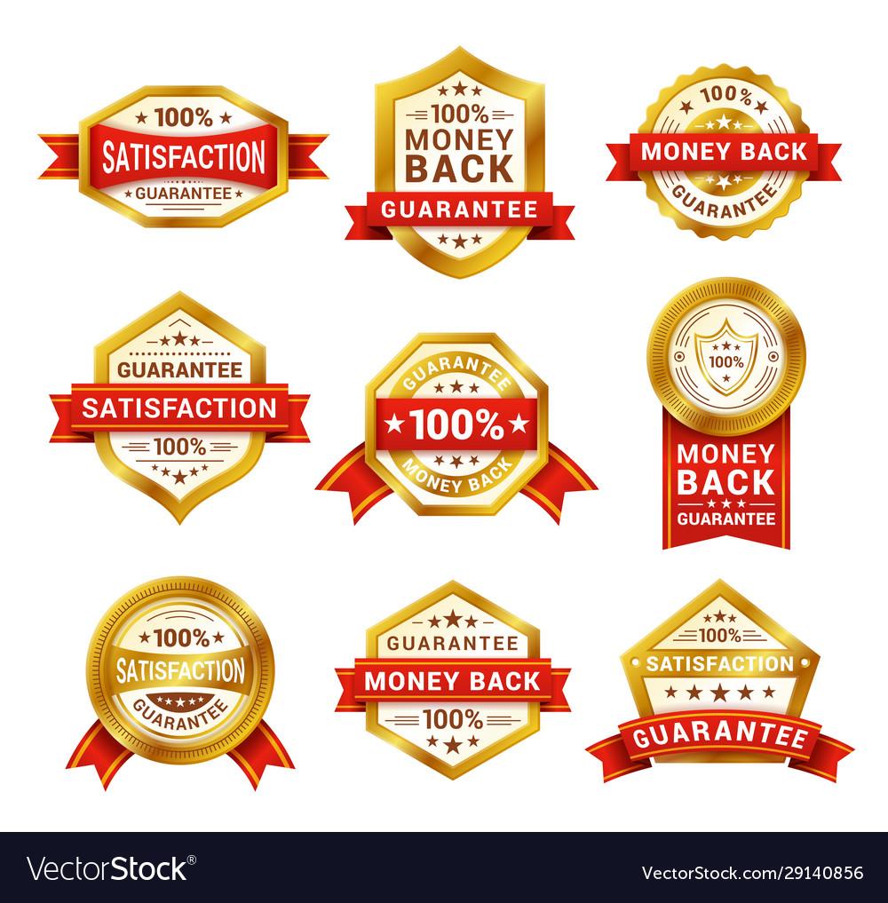Money back badge realistic