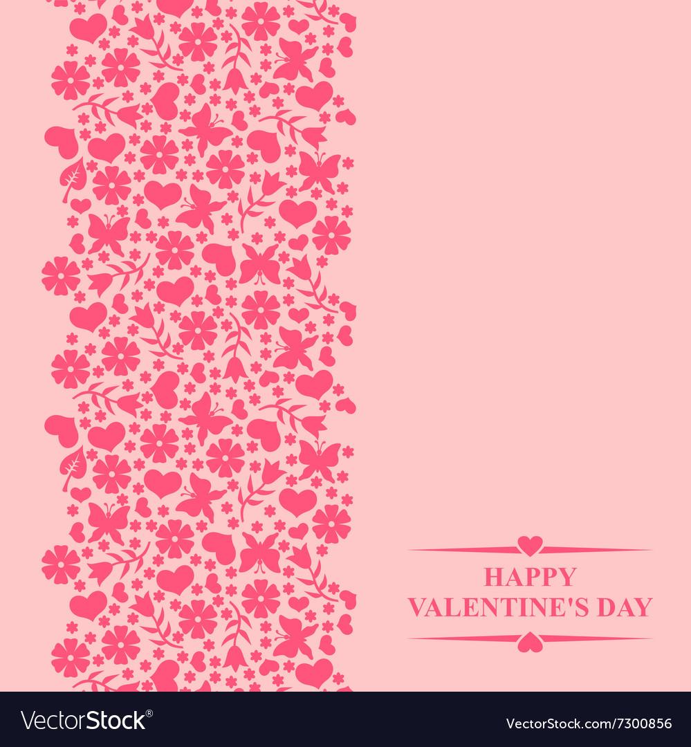 Valentine card pink