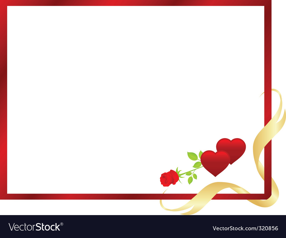 Valentine frame Royalty Free Vector Image - VectorStock