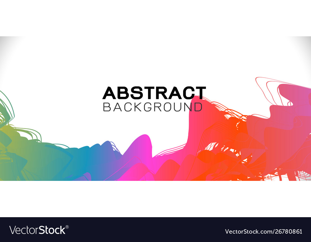 Abstract colorful brush stroke on background