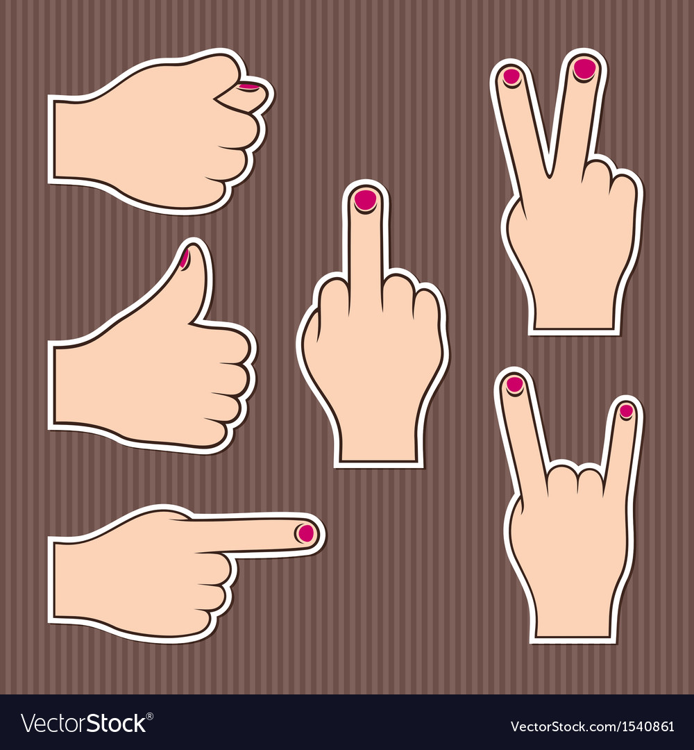 Fingers form signs vector image