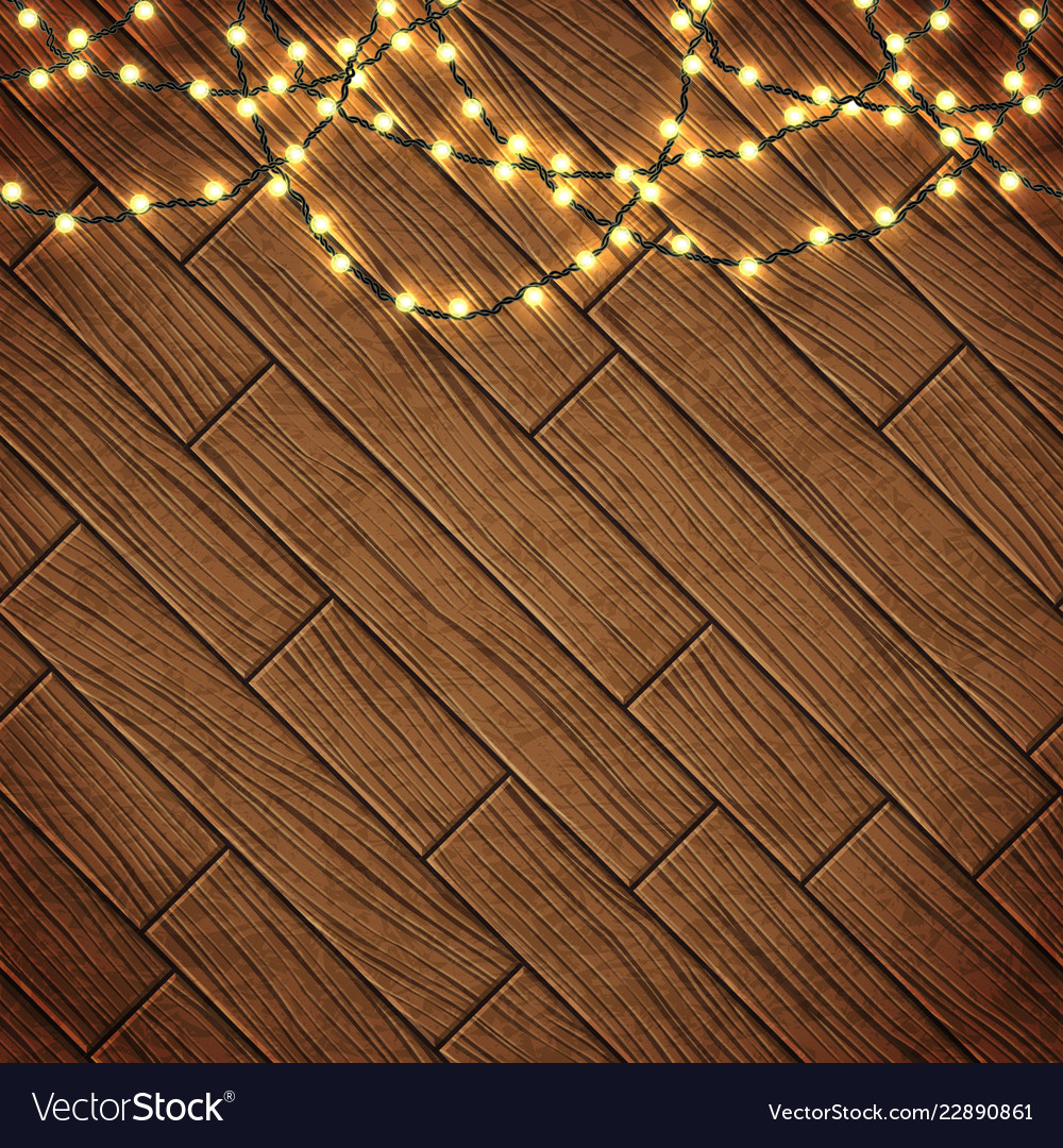 Magic card with christmas lights border with