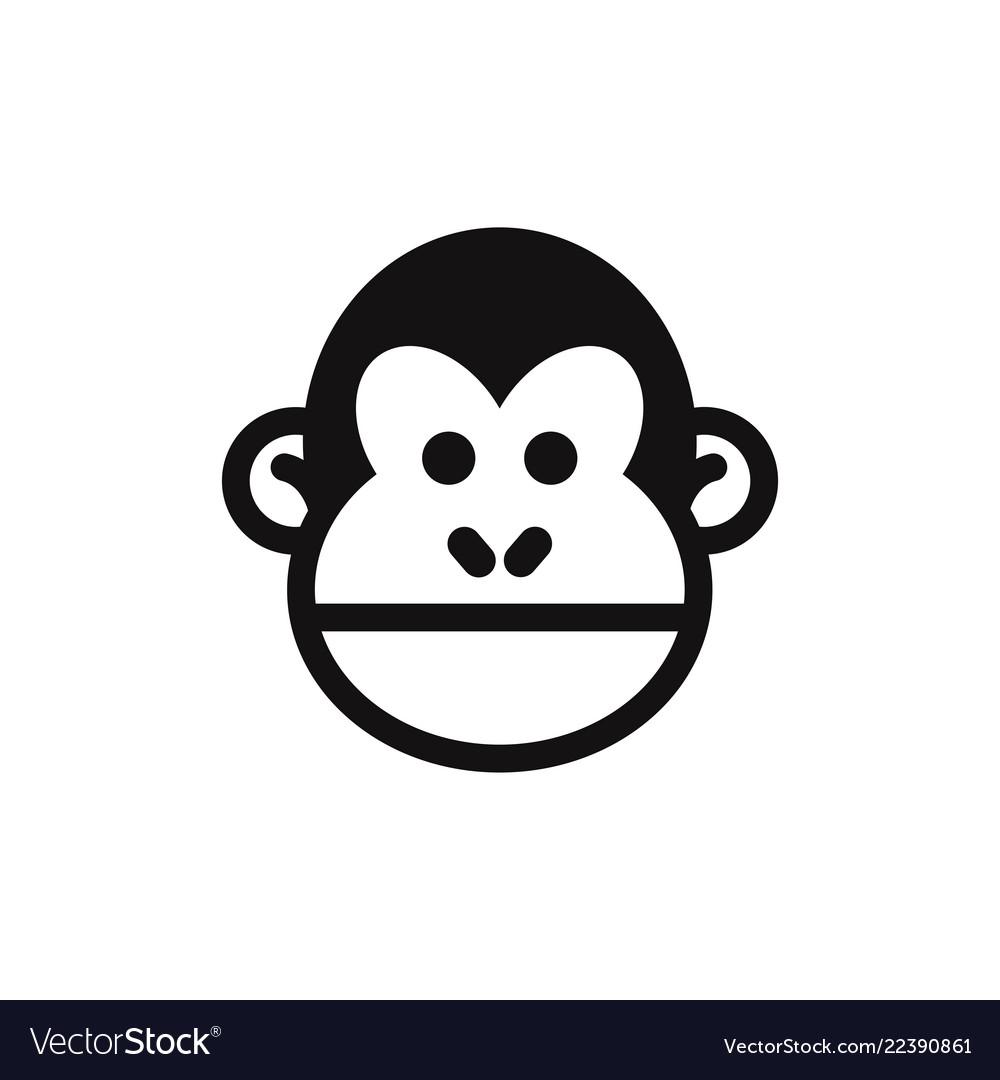 Monkey head icon