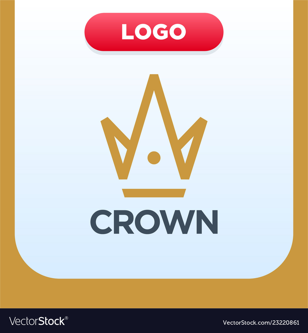 Royal crown logo template with letter a and m