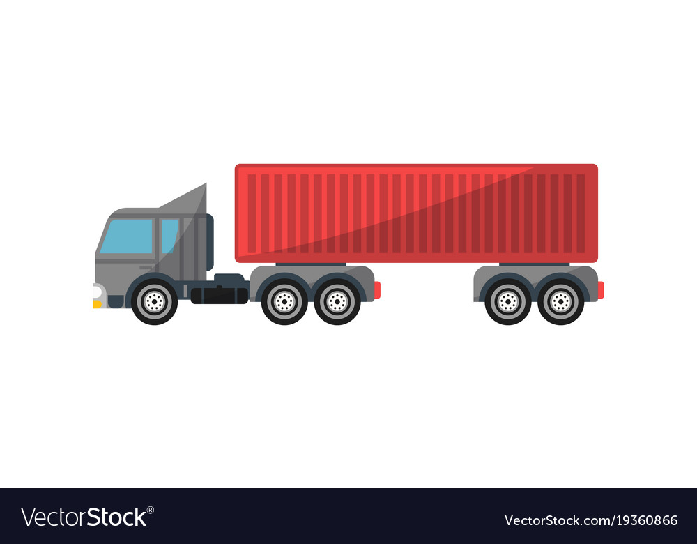Commercial container truck isolated icon