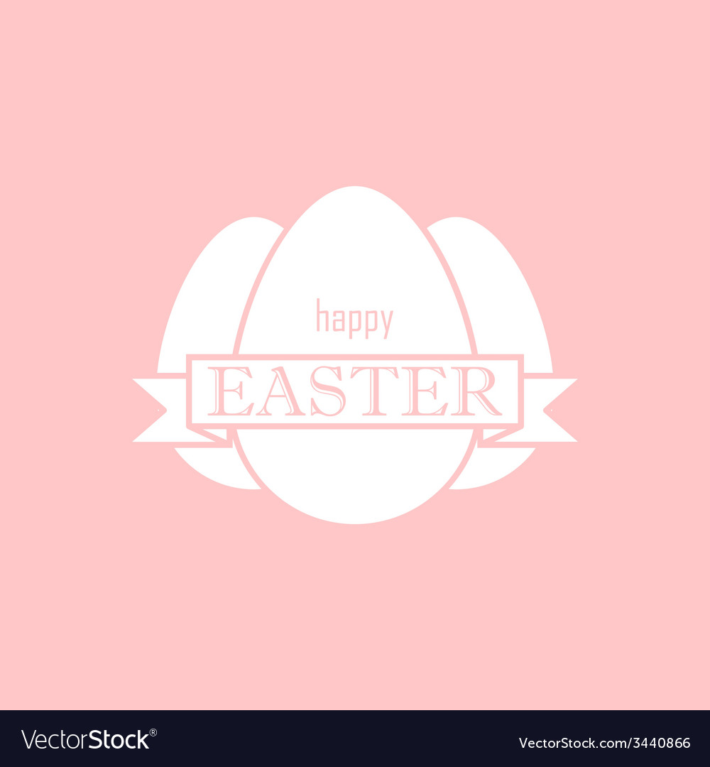 Easter with eggs and ribbon happy easter vector image