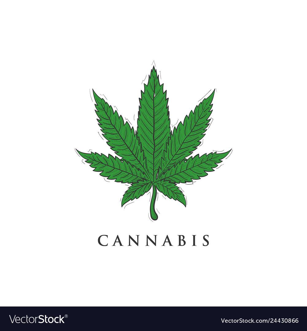 Hand drawn cannabis logo designs